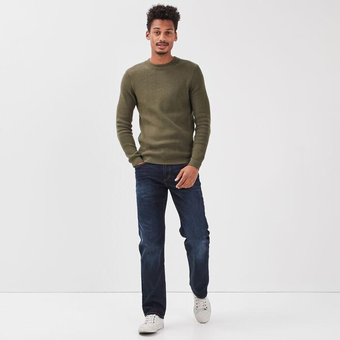 Jeans regular éco-responsable denim brut homme