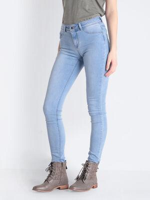Jeans Lou  jegging en coton bio denim bleach femme