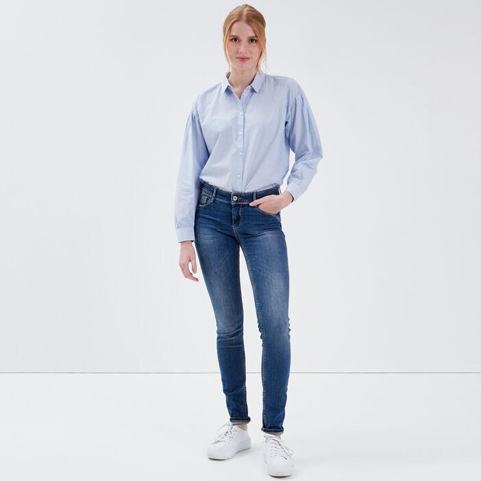 Jeans Marylin - skinny push up denim stone femme