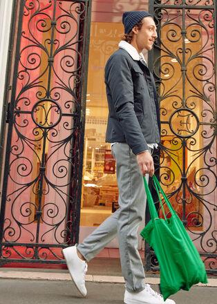 Pantalon droit 2 poches noir homme