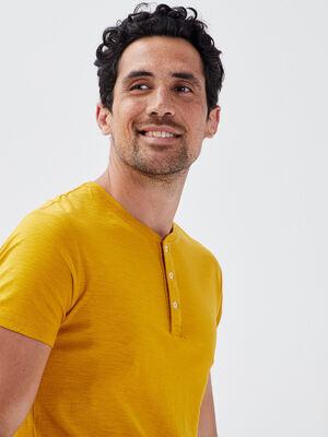 T shirt eco responsable jaune homme