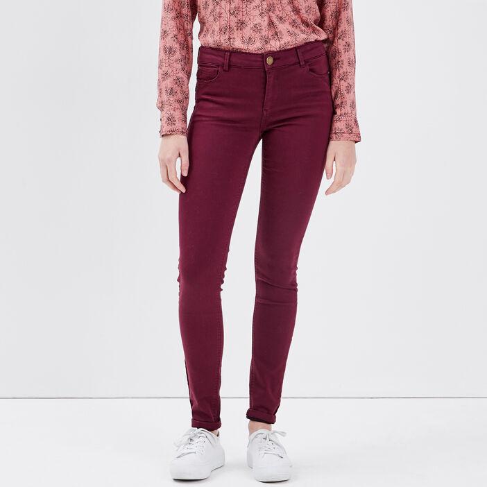 Pantalon Audrey - skinny push up prune femme
