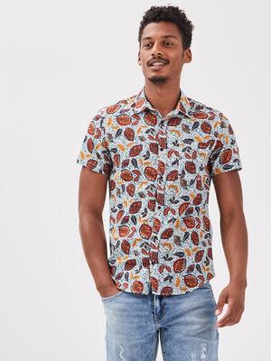 Chemise manches courtes multicolore homme