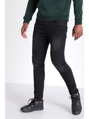Jeans skinny esprit biker denim noir homme