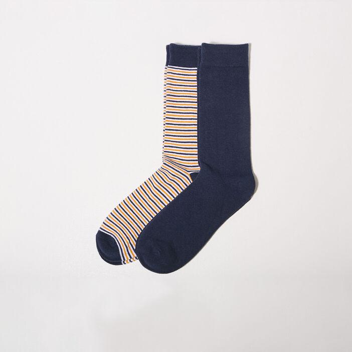 Lot 2 paires chaussettes jaune or homme