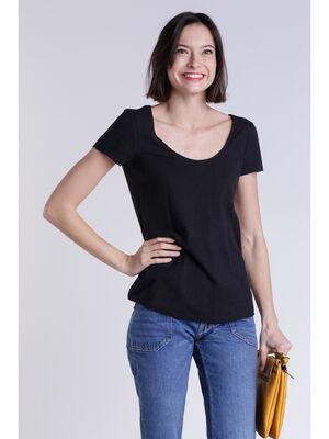 T shirt detail noir femme