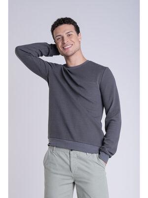 T shirt manches longues gris clair homme