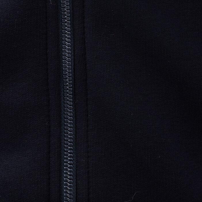 Gilet manches longues zippé bleu foncé homme