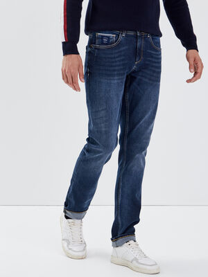 Jeans straight denim brut homme