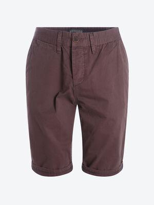 Bermuda chino droit coton violet homme