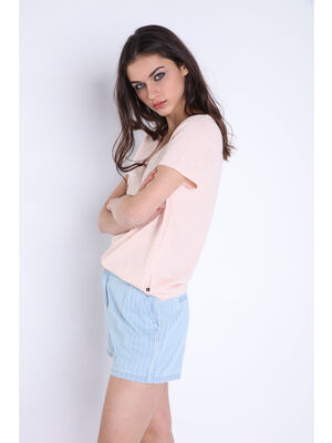 T shirt manches courtes Instinct rose femme