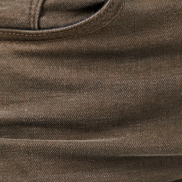 Jeans straight vert kaki homme