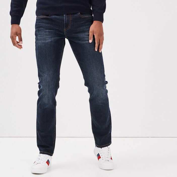Jeans straight éco-responsable denim brut homme
