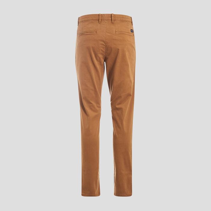 Pantalon slim Instinct chino marron homme