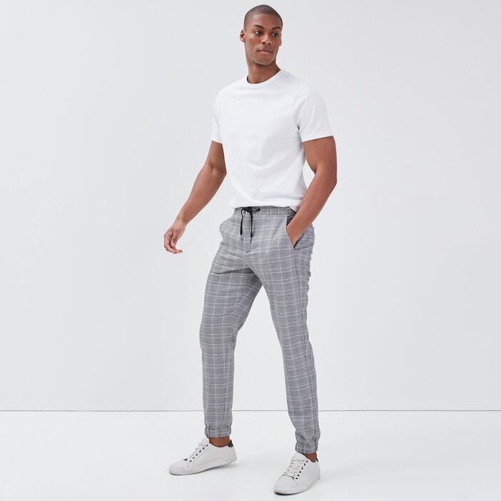 Pantalon jogger droit ecru homme