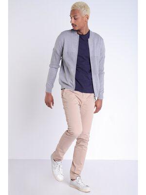 Pantalon Instinct chino ajuste marron homme