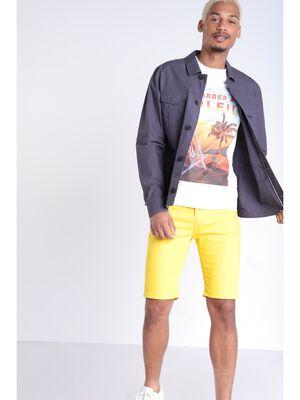 Bermuda ajuste 5 poches jaune homme