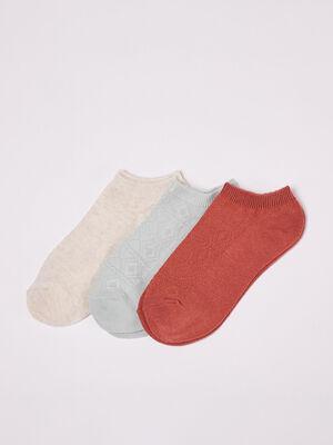Lot 3 paires de chaussettes vert clair femme