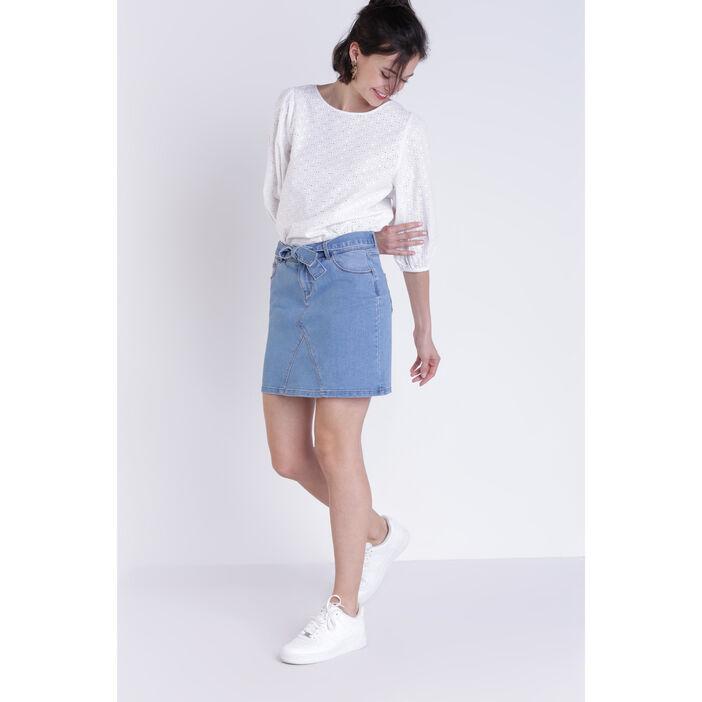énorme réduction 7dd11 07bd9 Jupe en jean denim stone femme | Vib's