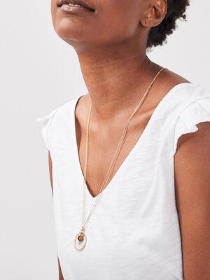 Collier avec pendentif couleur or femme