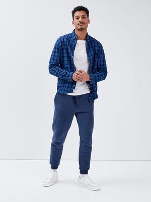 Pantalon jogging bleu fonce homme