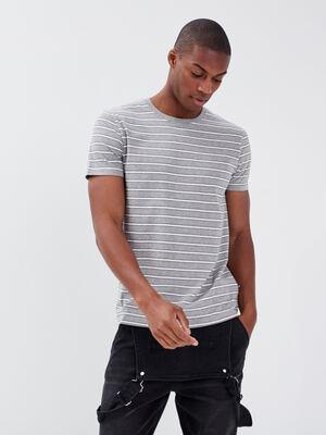 T shirt eco responsabilite gris fonce homme