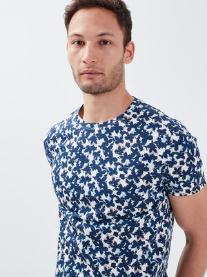 T shirt eco responsable bleu homme