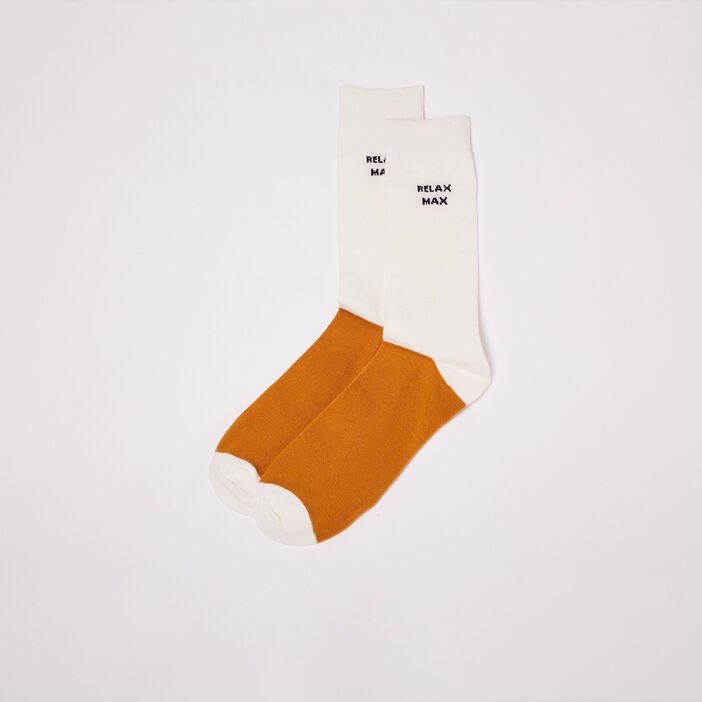 Chaussettes jaune moutarde homme