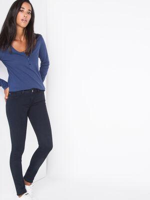 Jeans jegging skinny taille haute denim brut femme