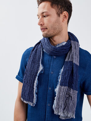 Foulard effet froisse bleu marine homme