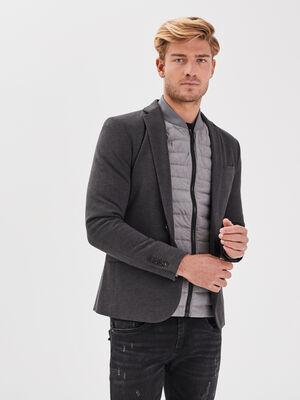 Veste blazer droite gris fonce homme