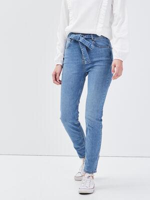 Jeans slim ceinture denim used femme