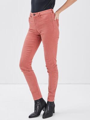 Pantalon vieux rose femme