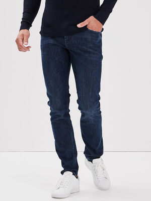 Jeans thermoregulant slim denim brut homme