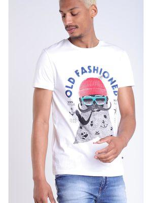 T shirt fete des peres blanc homme