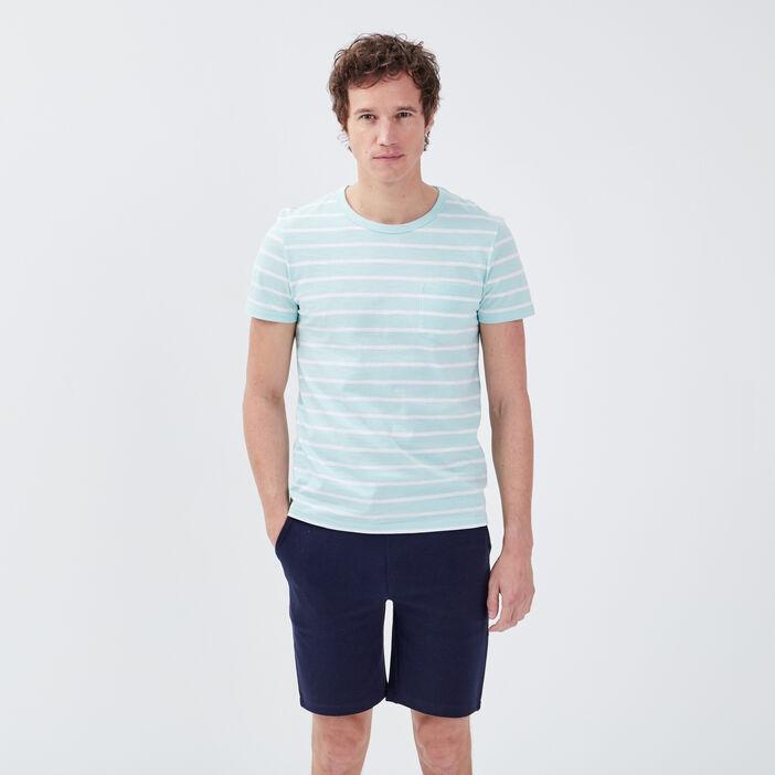 T-shirt éco-responsable bleu ciel homme