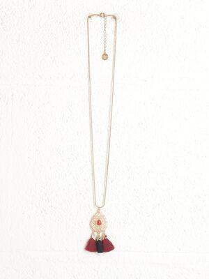 Collier pendentif a glands couleur or femme