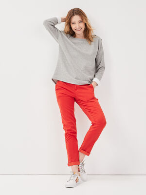 Pantalon chino Instinct rouge femme