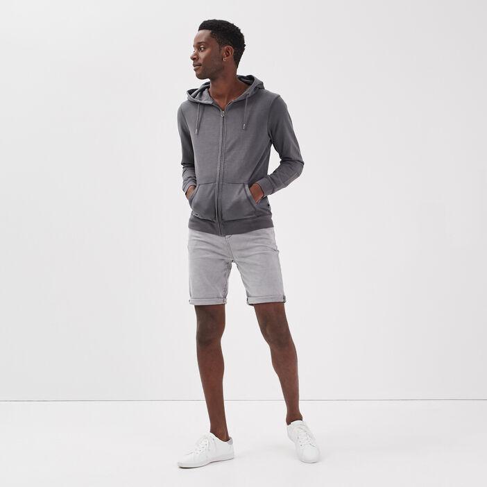 Bermuda éco-responsable denim gris homme