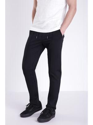 Pantalon ajuste et fluide noir homme