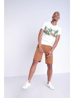Bermuda droit 5 poches marron clair homme