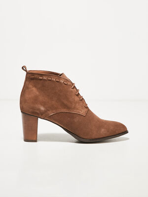 Bottines a talons taupe femme
