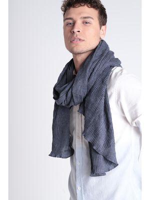 Foulard effet froisse gris clair homme