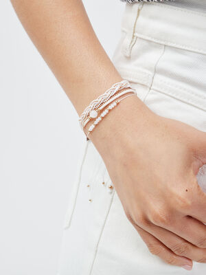 Lot 3 bracelets ecru femme