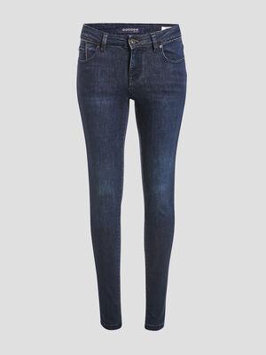 Jeans skinny details chaines denim stone femme