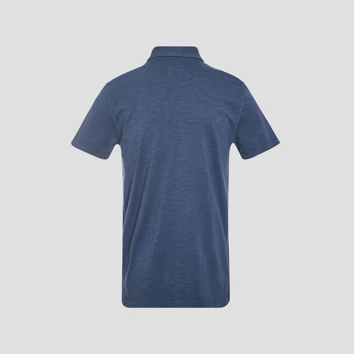 Polo éco-responsable bleu marine homme