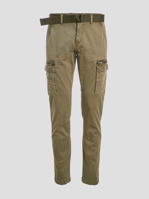 Pantalon cargo ceinture vert kaki homme