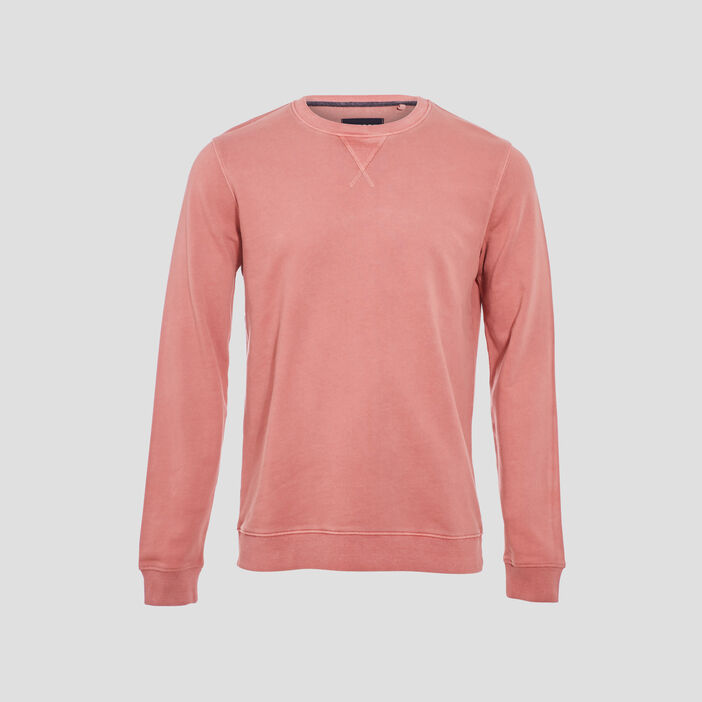 Sweat manches longues rose homme