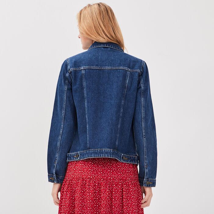 Veste en jean manches longues denim stone femme
