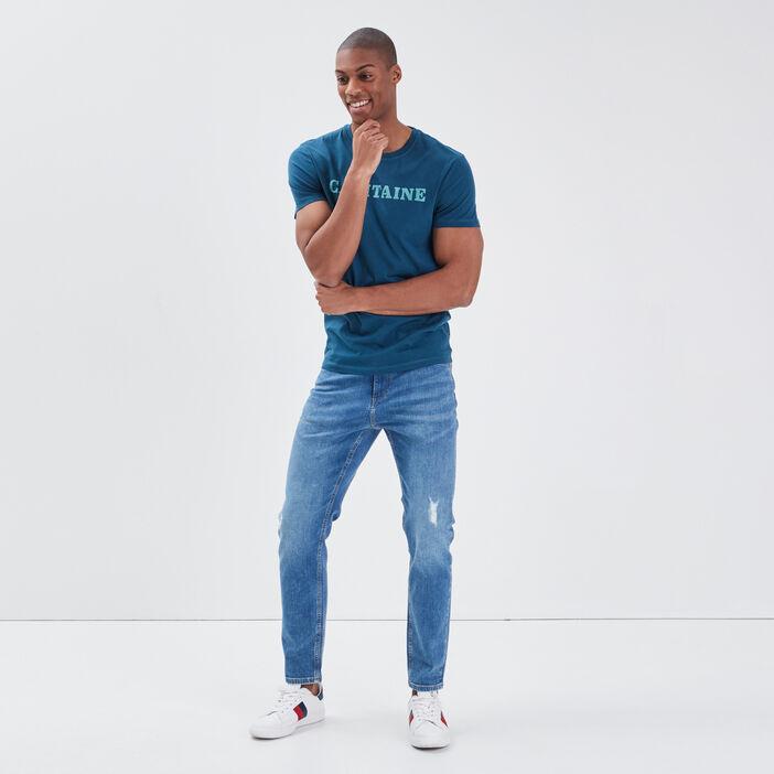 T-shirt éco-responsable bleu pétrole homme